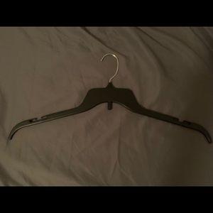 Set of 20 Black Plastic Hangers